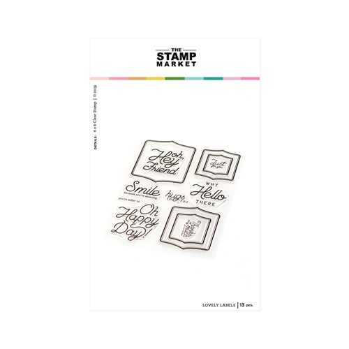 The Stamp Market LOVELY LABELS Clear Stamp Set tsm128 Preview Image