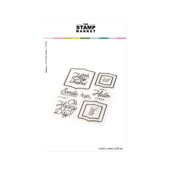 The Stamp Market LOVELY LABELS Clear Stamp Set tsm128