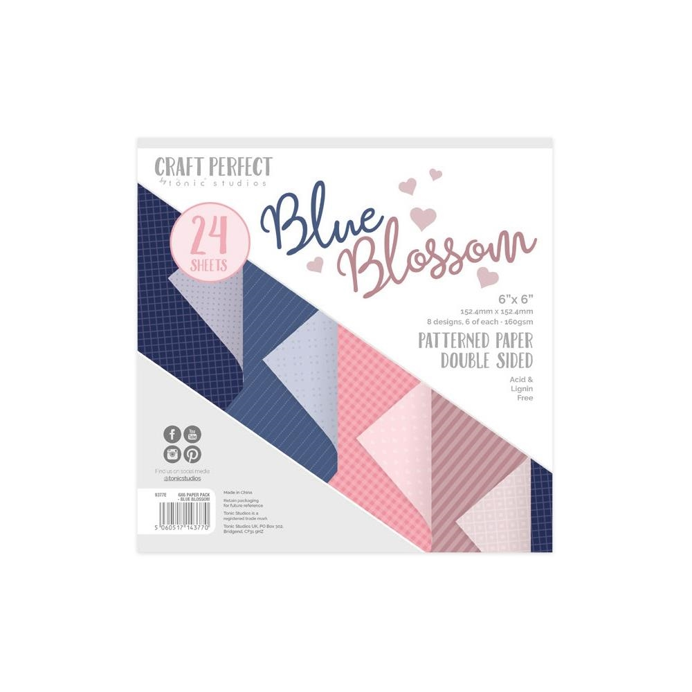 Tonic BLUE BLOSSOM Craft Perfect Patterned 6 x 6 Paper Pack 9377e zoom image