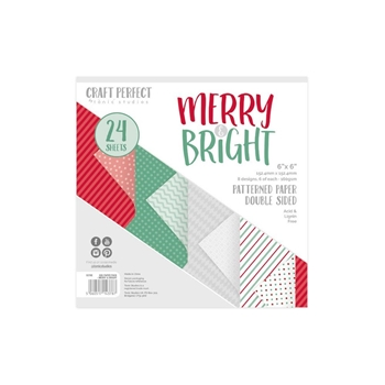 Tonic MERRY AND BRIGHT Craft Perfect Patterned 6 x 6 Paper Pack 9378e