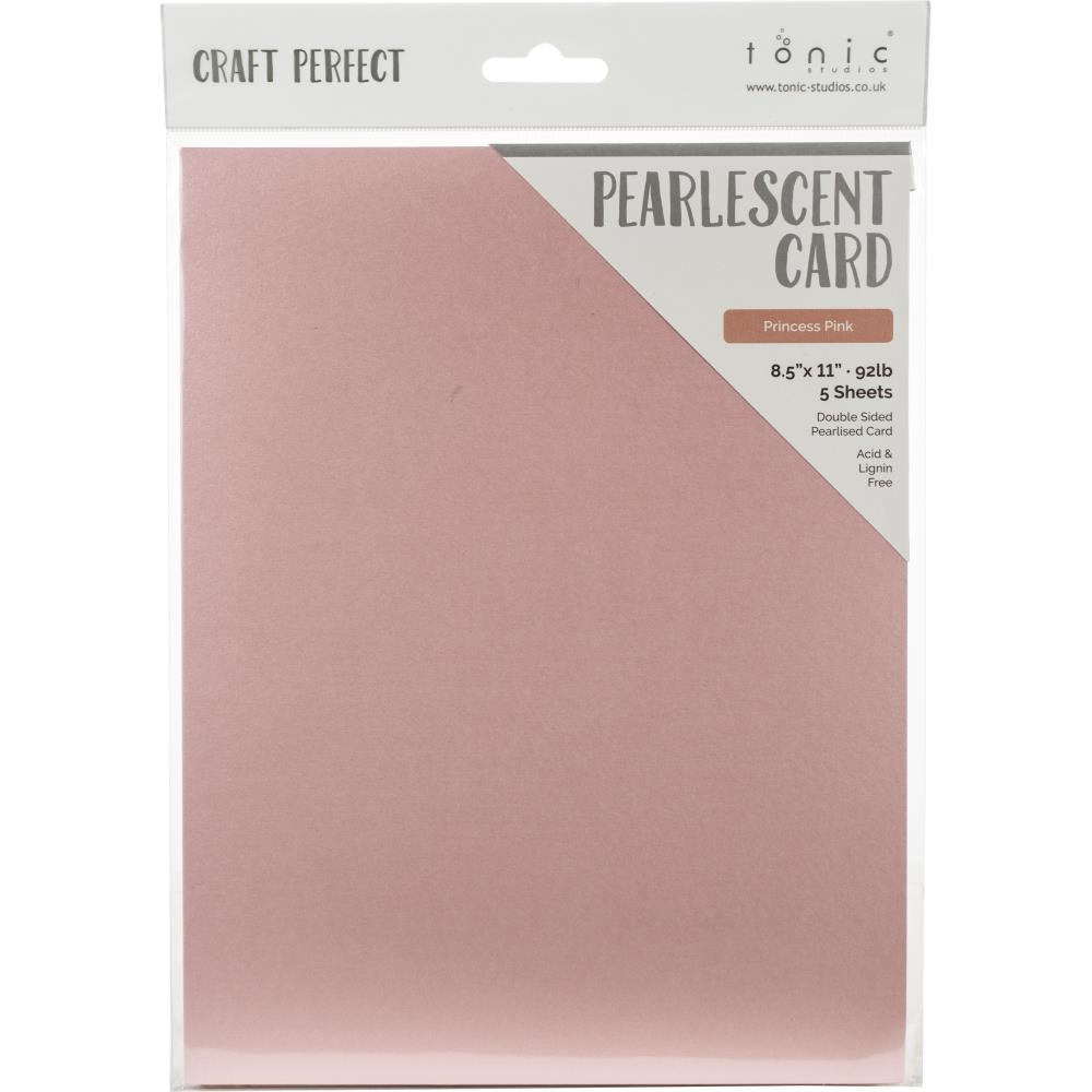 Tonic PRINCESS PINK Pearlescent Cardstock 9545e zoom image