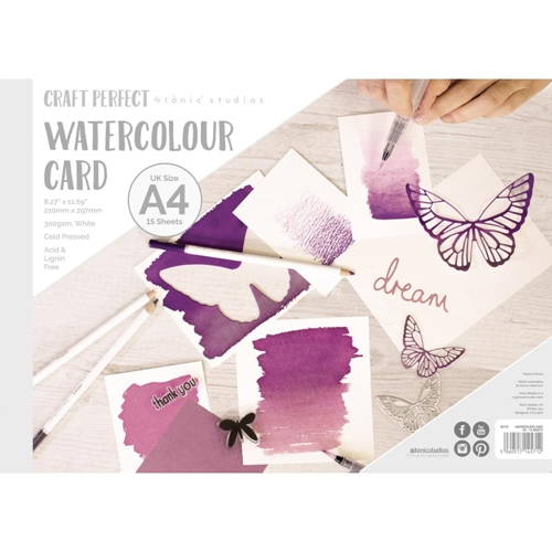 Tonic A4 WATERCOLOR CARD Craft Perfect 9571e Preview Image