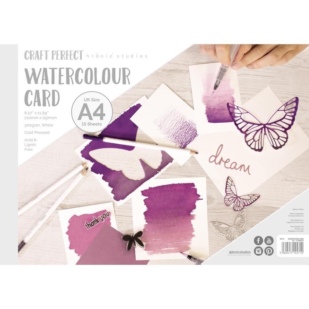 Tonic A4 WATERCOLOR CARD Craft Perfect 9571e zoom image