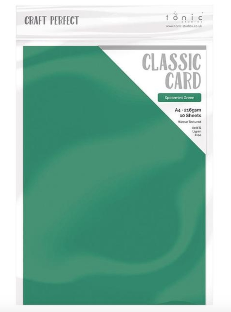 Tonic SPEARMINT GREEN Craft Perfect Classic Weave Cardstock 9642e zoom image