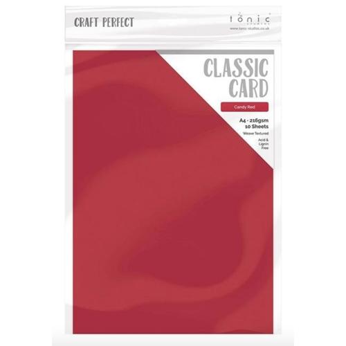 Tonic CANDY RED Craft Perfect Classic Weave Cardstock 9682e Preview Image