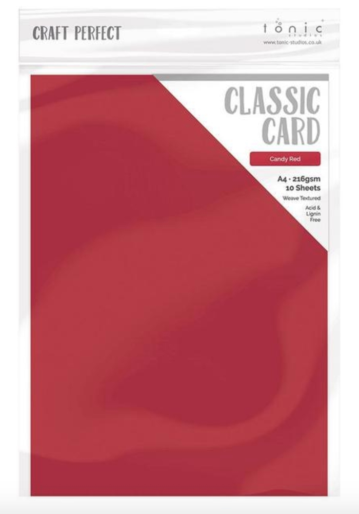 Tonic CANDY RED Craft Perfect Classic Weave Cardstock 9682e zoom image