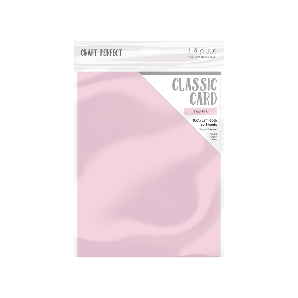 Tonic BALLET PINK Craft Perfect Classic Weave Cardstock 9689e zoom image