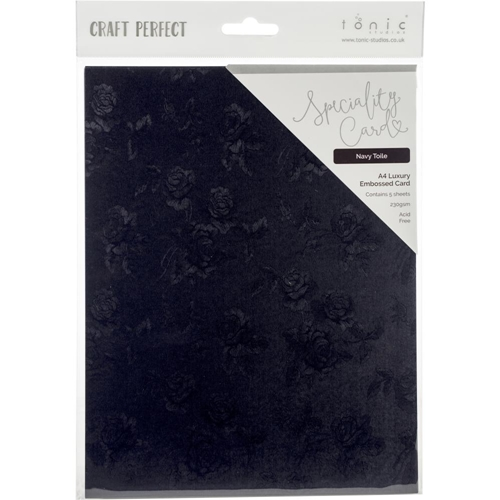 Tonic NAVY TOILE Luxury Embossed A4 Paper Pack 9845e Preview Image