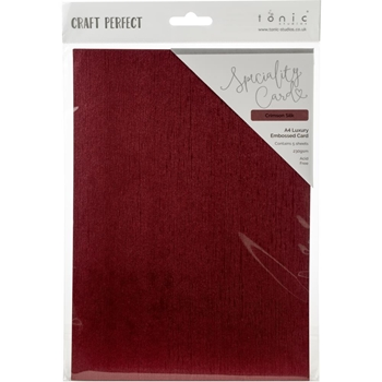 Tonic CRIMSON SILK Luxury Embossed A4 Paper Pack 9846e