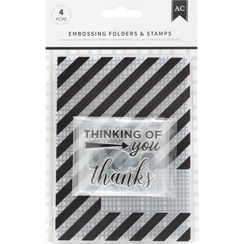 American Crafts THANKFUL THINKING Embossing Folders and Stamps 352075 Preview Image