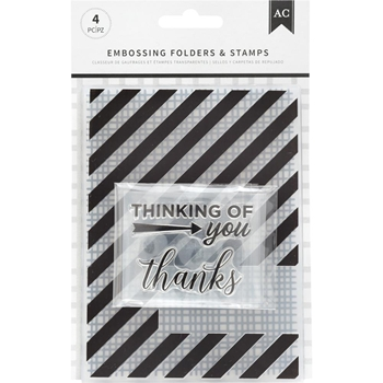 American Crafts THANKFUL THINKING Embossing Folders and Stamps 352075
