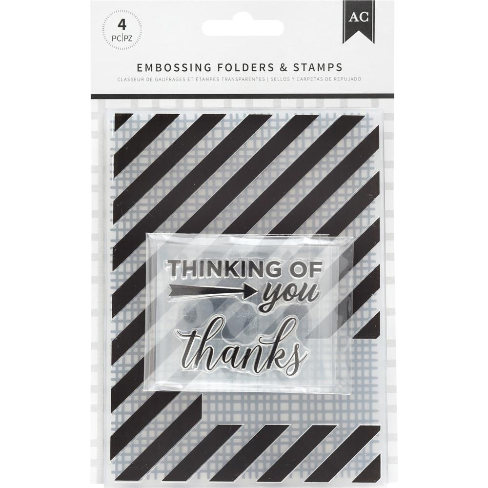 American Crafts THANKFUL THINKING Embossing Folders and Stamps 352075 zoom image