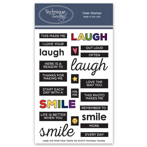 Technique Tuesday LAUGH AND SMILE Clear Stamps 2788 Preview Image