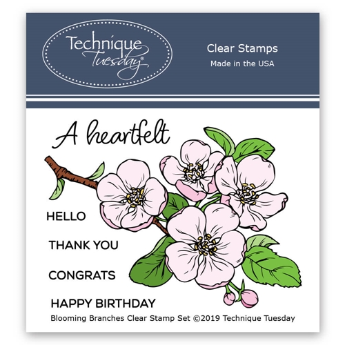 Technique Tuesday BLOOMING BRANCH Clear Stamps 2790 Preview Image