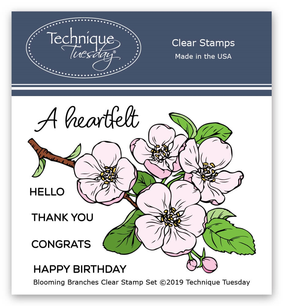 Technique Tuesday BLOOMING BRANCH Clear Stamps 2790 zoom image
