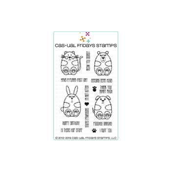 CAS-ual Fridays LIL HUGGABLES Clear Stamps CFS1901*