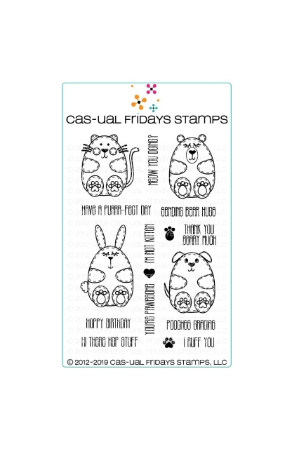 CAS-ual Fridays LIL HUGGABLES Clear Stamps CFS1901 zoom image
