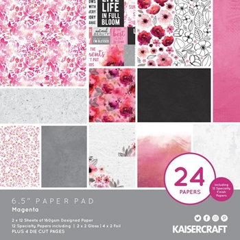 Kaisercraft MAGENTA 6.5 Inch Paper Pad PP1071