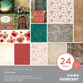 Kaisercraft ENCHANTED 6.5 Inch Paper Pad PP1072