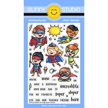 Sunny Studio SUPER DUPER Clear Stamps SSCL-232