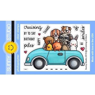 Sunny Studio Cruising Critters Clear Stamp Set