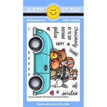 Sunny Studio CRUISING CRITTERS Clear Stamps SSCL-238