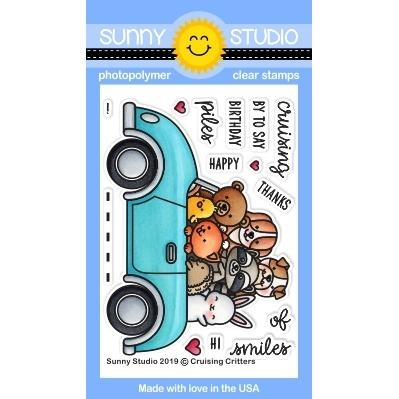 Sunny Studio CRUISING CRITTERS Clear Stamps SSCL 238 zoom image