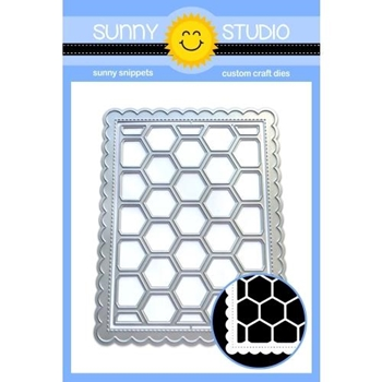 Sunny Studio FRILLY FRAMES HEXAGON Dies SSDIE-155