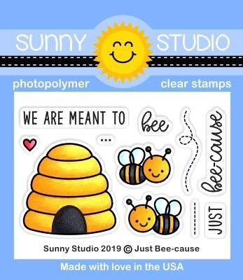 Sunny Studio JUST BEE-CAUSE Clear Stamps SSCL-236 zoom image