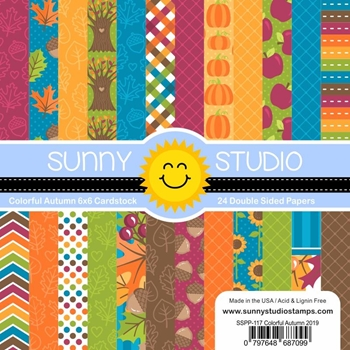 Sunny Studio COLORFUL AUTUMN Paper Pad SSPP-117
