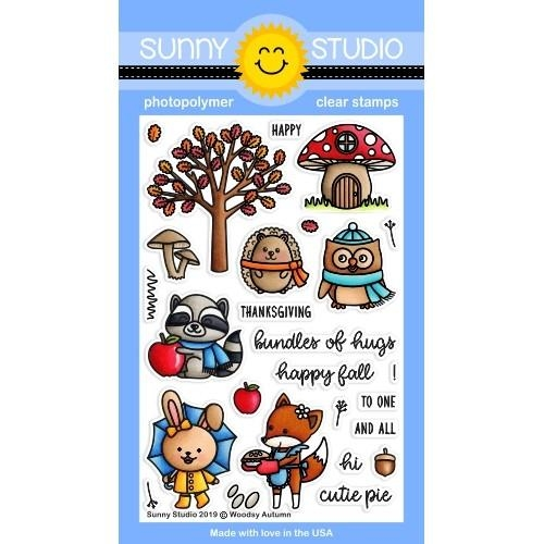 Sunny Studio WOODSY AUTUMN Clear Stamps SSCL-231  zoom image