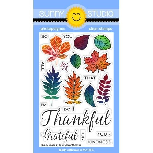 Sunny Studio ELEGANT LEAVES Clear Stamps SSCL-230 Preview Image