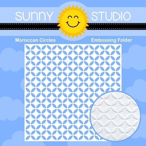 Sunny Studio MOROCCAN CIRCLES Embossing Folder  Preview Image