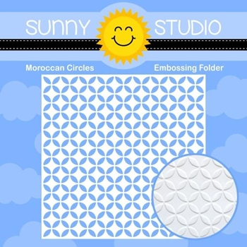 Sunny Studio MOROCCAN CIRCLES Embossing Folder