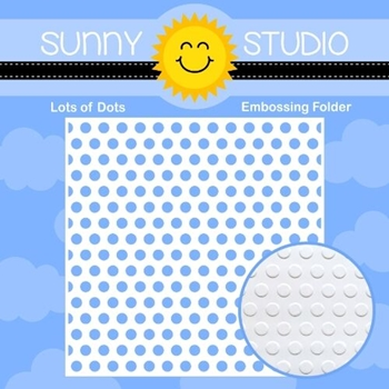 Sunny Studio LOTS OF DOTS Embossing Folder SSMB-105