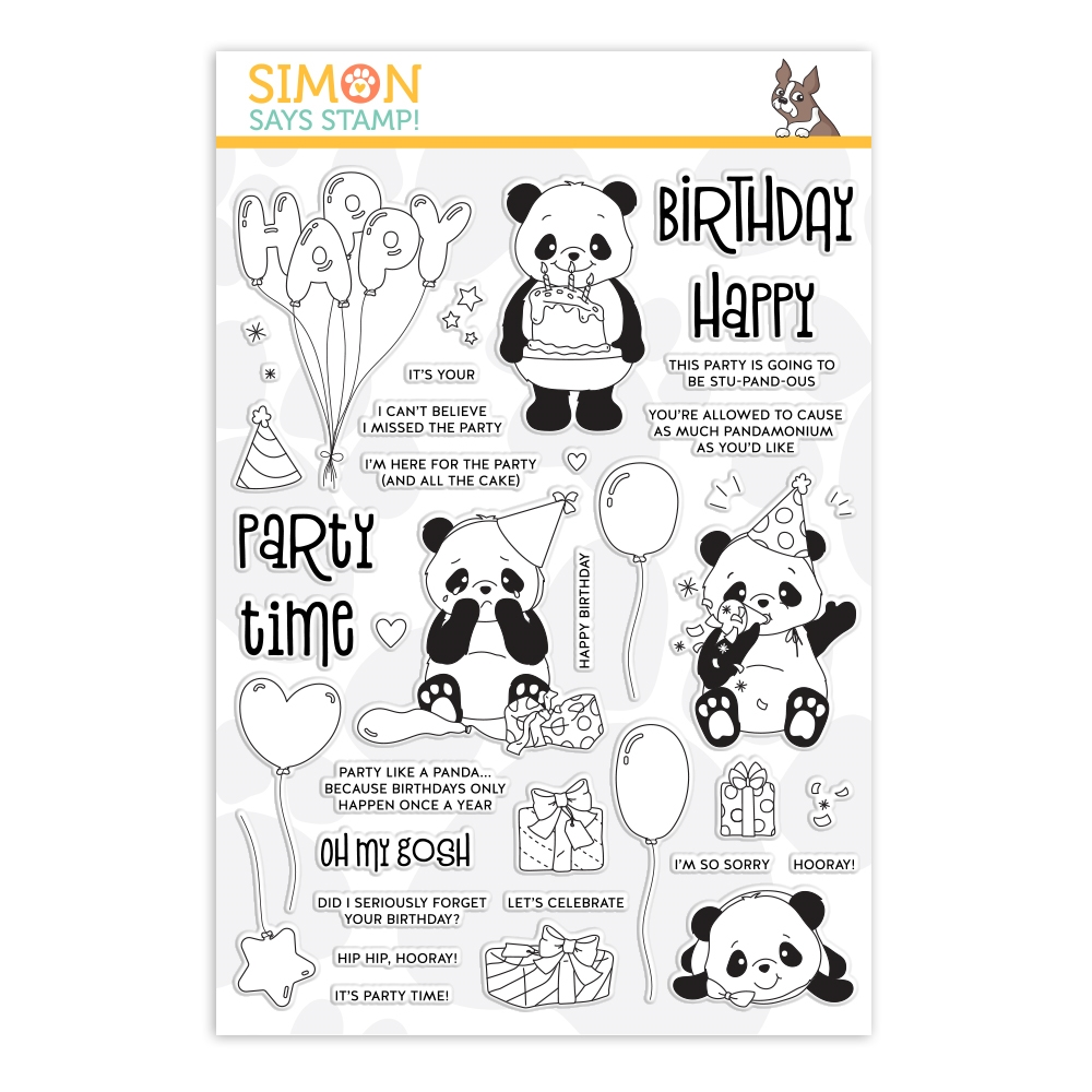 Simon's Exclusive Party Like A Panda Clear Stamp Set