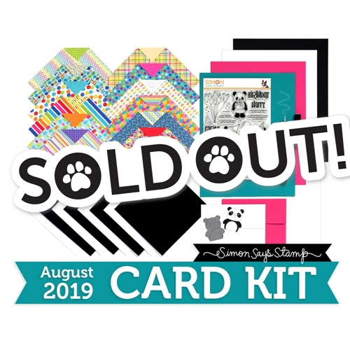 Simon Says Stamp Card Kit of The Month AUGUST 2019 PARTY LIKE A PANDA ck0819 Preview Image