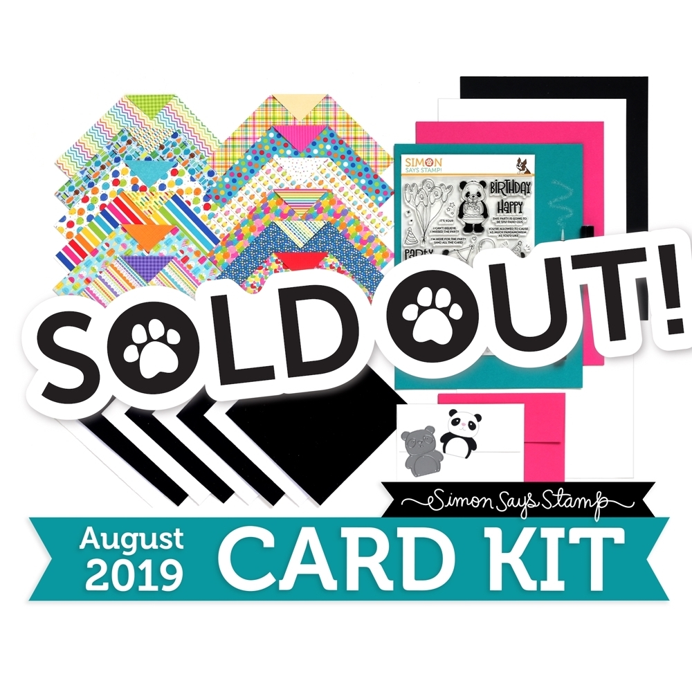 Simon Says Stamp Card Kit of The Month AUGUST 2019 PARTY LIKE A PANDA ck0819 zoom image