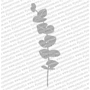 Paper Rose STITCHED EUCALYPTUS BRANCH TALL Craft Die 18090