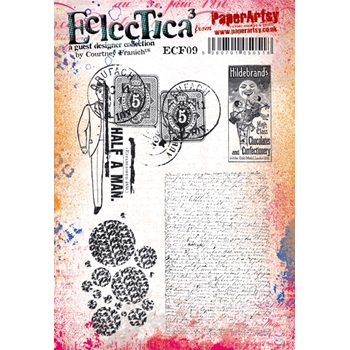 Paper Artsy ECLECTICA3 COURTNEY FRANICH 09 Cling Stamps ecf09