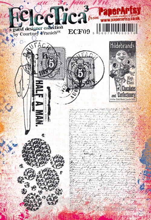 Paper Artsy ECLECTICA3 COURTNEY FRANICH 09 Cling Stamps ecf09 zoom image