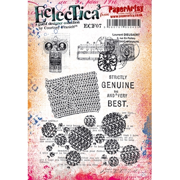 Paper Artsy ECLECTICA3 COURTNEY FRANICH 07 Cling Stamps ecf07*