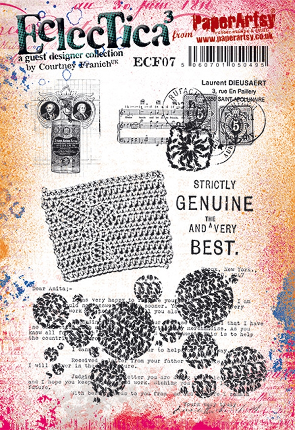 Paper Artsy ECLECTICA3 COURTNEY FRANICH 07 Cling Stamps ecf07 zoom image