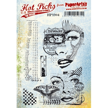 Paper Artsy Stamp HOT PICK 1904 Cling Stamps hp1904