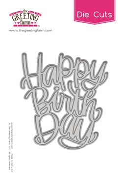 The Greeting Farm HAPPY BIRTHDAY Die Cut TGF503 zoom image
