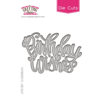 The Greeting Farm BIRTHDAY WISHES Die Cut TGF502