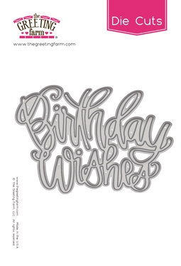 The Greeting Farm BIRTHDAY WISHES Die Cut TGF502 zoom image