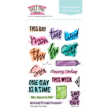The Greeting Farm THIS DAY Clear Stamps TGF501*