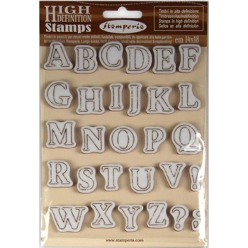 Stamperia ALPHABET Cling Stamp wtkcc159