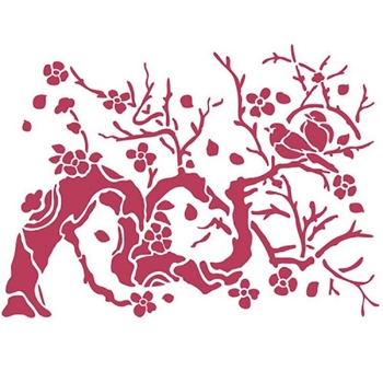 Stamperia BIRD ON BRANCH Stencil ksd301